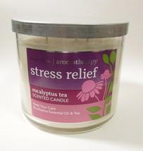 Bath & Body Works Aromatherapy Stress Relief Eucalyptus Tea Candle 14.5o... - $20.00