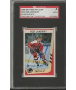 Rod Langway 1990 Panini Stickers Autograph #350 SGC Capitals - $46.63