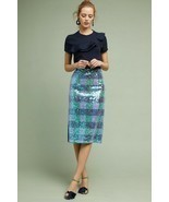 NWT ANTHROPOLOGIE BRIX SEQUINED PALETTE MIDI SKIRT by MAEVE 6 - €99,32 EUR