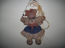 country vintage  hanging bear decor - $9.99