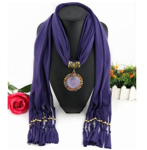 Charms Scarf jellery pendant Scarf Scarves lace Scarf image 5