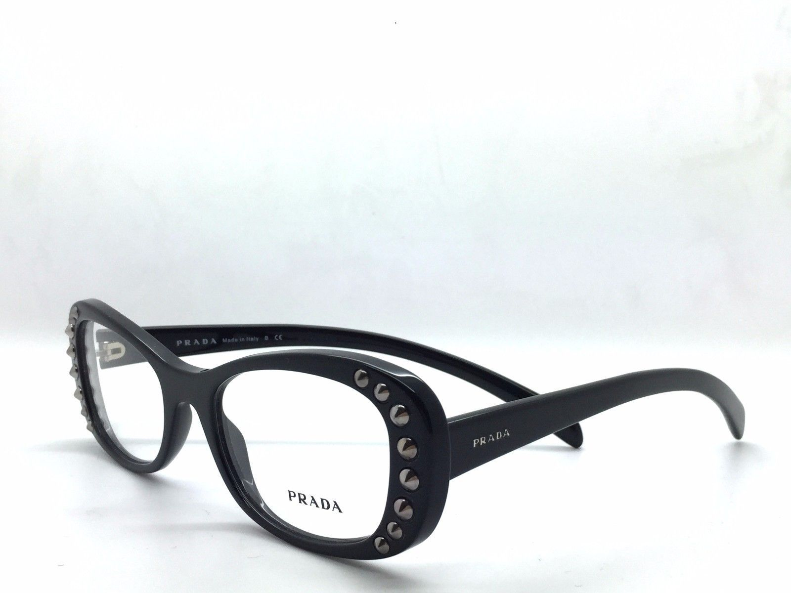16dc50a6e092 Prada VPR 21R 1AB-1O1 Black /w Silver Studs and 50 similar items