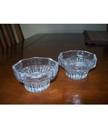 pair of candlestick/votive  glass candle holders - $9.00
