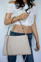 NWT MICHAEL KORS SOFIA LARGE EAST WEST SATCHEL LEATHER SHOULDER BAG PINK... - $88.10