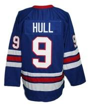 Custom Name # Winnipeg Jets Wha Hockey Jersey New Blue Bobby Hull Any Size image 2