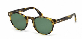 New TOM FORD FT522 56N 51MM TF522  Sunglasses Yellow Brown Havana Fast Ship - $148.49