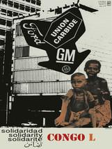"20x30""Political World Solidarity Socialist Poster CANVAS.Congo Africa.6207 - $75.00"