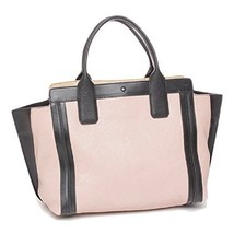 Chloe Alison Leather Tote Bag Tea Petal and Black Medium Handbag - $1,162.82 CAD
