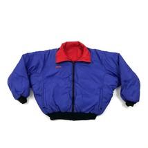 Vintage Columbia Radial Sleeve Puffer Jacket Reversible Down Coat Size L Mens - $36.31