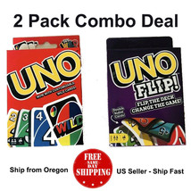 UNO Flip and UNO Card Game ( 2 PACK ) - US Seller - Ship Fast - Free Shi... - $18.42