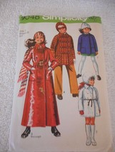 Vintage 1970s Simplicity Size 7 9048 cut coat and hat pattern bust 26 3 ... - $15.83