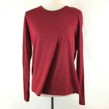 BP Womens Cotton Blend Tee Top Size Small Red Long Sleeve Front Pocket B... - $9.89