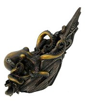 The Kraken Giant Octopus Attacking Ship Collectible Figurine 9 Inch Tall - £18.22 GBP