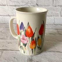 Vintage Otagiri USA Coffee Mug Advantage Collection Tulips Made In Korea... - $13.85