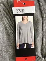 DKNY Jeans Ladies' V-Neck Sweater Heather Gray M 358 - $19.99