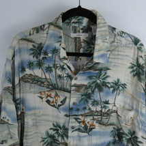 Moda Campia Moda Hawaiian Rayon Button Front Shirt Men's Size XL - $19.75