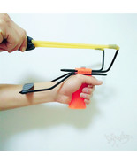 Fessional wooden athletics slingshot rist brace support shot slingshot bow with handle thumbtall