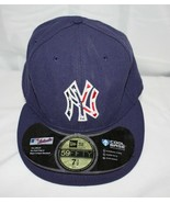 New York Yankees Baseball Cap ~  Blue with Embroidered Logo ~ Size 7-1/2 - $11.39
