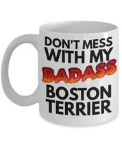 "Boston Terrier Mug ""Badass Coffee Mug Boston Terrier"" Great For A Boston... - $14.95"