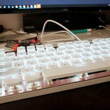 Qsenn ARES-Q150 Korean English Gaming Keyboard Brown Switch USB Wired LED image 3