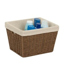 Honey-Can-Do STO-03565 Parchment Cord Basket with Handles and Liner, Bro... - $13.83