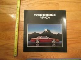 Dodge Mirada 1980 car Dealer showroom Sales Brochure  - $10.99