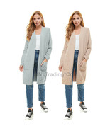 NWT T&S Thread & Supply Ladies Cozy Plush Softest Cardigan with 2 Front ... - $39.99