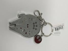 Star Wars Millennium Falcon Metal Keychain Disney Parks - $12.19