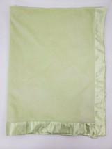 Carter's Baby Blanket Solid Light Mint Green Velour & Satin Unisex Secur... - $29.99