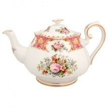 Royal Albert Lady Carlyle Teapot Tea Pot Bone China New with Tag - $231.41