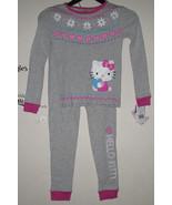Girls Size 8 Hello Kitty Gray 2 piece Pajamas (... - $8.00