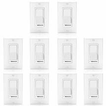 [10 Pack] BESTTEN Dimmer Light Switch, Universal Lighting Control, Singl... - $142.27