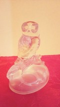 "Vintage Cristal d'Arques Lead Crystal Glass Figurine Owl Bird 6"" - $12.13"