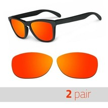 2 Pair Optico Replacement Polarized Lenses for Oakley Frogskin Sunglasses Red - $15.99
