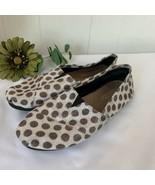 Toms Classic Slip On Shoes Brown White Metallic Polka Dot Womens Size 8.5 - $29.67