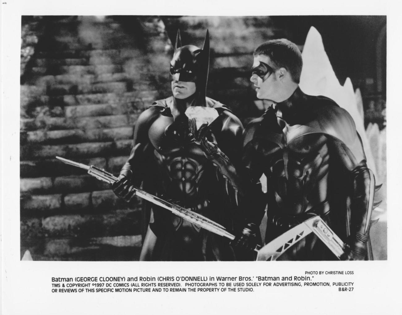 Batman & Robin George Clooney Chris O'Donnell 8x10 Photo