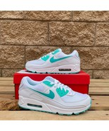Nike Air Max 90 Hyper Jade MEN'S WHITE LEATHER CLASSIC ATHLETIC SHOE CT1... - $125.00