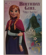 "Greeting Card Birthday Disney's Frozen ""Birthday Girl, Today's Your Day!... - $4.99"