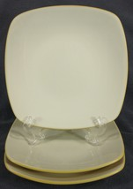 Noritake Colorwave Mustard 8065Y Salad Plates Lot of 3 Square Coupe White - $24.49
