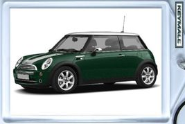 KEY CHAIN GREEN/WHITE TOP & STRIPES MINI COOPER... - $9.95