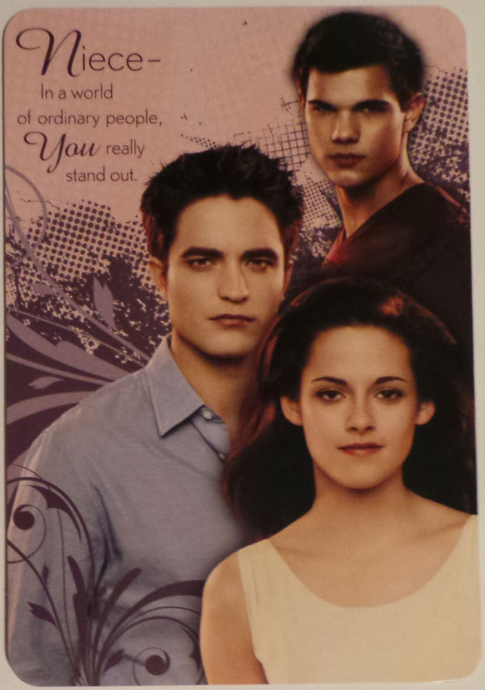 "Greeting Card Birthday Niece the Twilight saga Breaking Dawn part 1 ""In a world"""