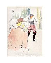 """Henri De Toulouse Lautrec """"Dans Les Coulisses D... - $1,200.00"""