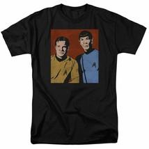 Star Trek Kirk  Spock vintage retro 60s sci-fi series graphic t-shirt CBS1579 image 1