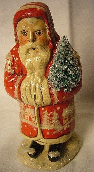 Vaillancourt Folk Art Small Village Father Christmas Personally signed by Judi!