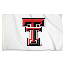 Texas Tech Red Raiders White 3'x5' Flag with Grommets  - $35.95