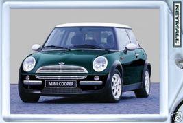KEY CHAIN RACING GREEN/WHITE TOP NEW MINI COOPER KEYTAG LLAVERO PORTE CL... - $9.95