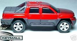 KEY CHAIN RED CHEVY AVALANCHE CHEVROLET PICKUP TRUCK PORTE CLE LLAVERO БРЕЛ - $29.95