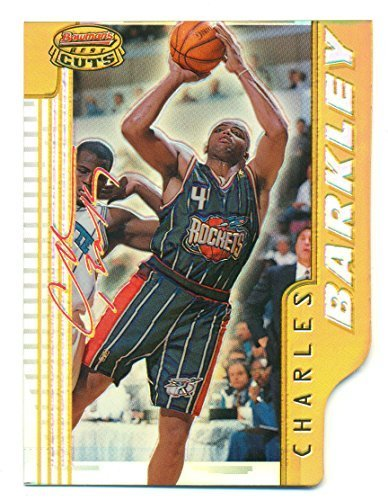 1996-97 Bowman's Best Cuts Refractor Charles Barkley #BC4 - Houston Rockets - Ba