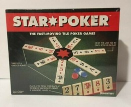 STAR TILE POKER GAME 1994 PRESSMAN NEW FACTORY SEALED BOX - $7.89
