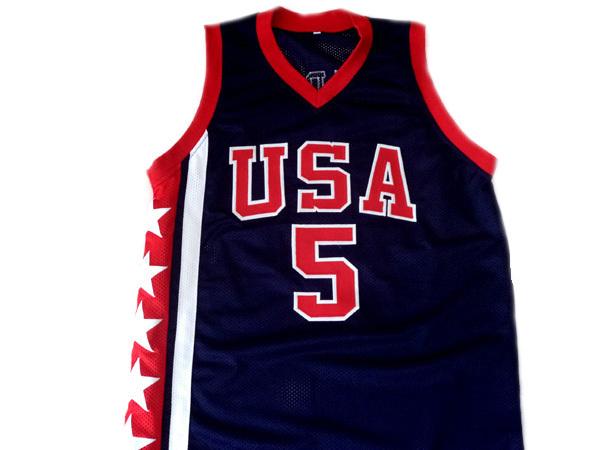 Jason Kidd #5 Team USA New Men Basketball Jersey Navy Blue Any Size